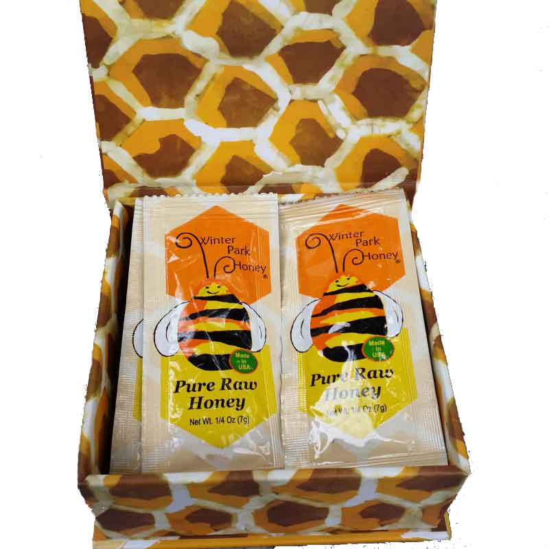 Honey packet gift box local bee honey winter park honey gift box with packets negle Choice Image